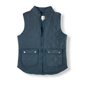 Skies are Blue Quilted Puffer Vest
